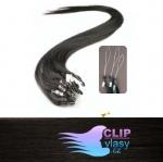 41 cm REMY vlasy na ring 0,5g/pr. - prírodná čierna #1b