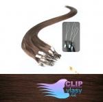 41 cm REMY vlasy na ring 0,7g/pr. - čokoládovo hnedá #4