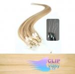 41 cm REMY vlasy na ring 0,7g/pr. - prírodná blond #22
