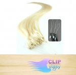 41 cm REMY vlasy na ring 0,7g/pr. - beach blond #613