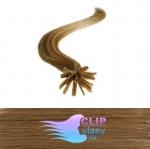 51 cm REMY vlasy na keratín 0,7g/pr. - svetlo hnedá #12