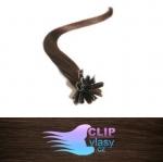 51 cm REMY vlasy na keratín 0,7g/pr. - čokoládovo hnedá #4