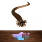 51 cm REMY vlasy na keratín 0,7g/pr. - svetlejšia hnedá #6