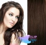 51 cm REMY vlasy na tape in - čokoládovo hnedá #4