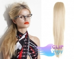 Clip in cop so štipcom 60cm - platina #60