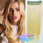 Clip in pás 60cm kanekalon - beach blond #613