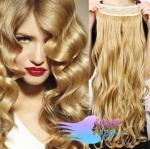 Clip in pás 60cm kanekalon vlnitý - prírodná blond #22
