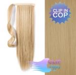 Clip in rovný cop 60cm - prírodná blond #22