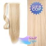Clip in rovný cop 60cm - beach blond #613
