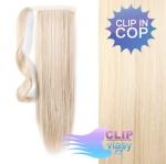 Clip in rovný cop 60cm - platina #60