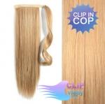 Clip in rovný cop 60cm - prírodná/svetlejšia blond #18/22