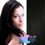 Clip in vlasy 41cm - uhľovočierna #1
