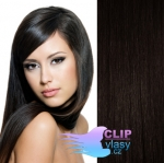 Clip in vlasy 41cm - prírodná čierna #1b