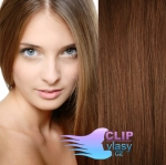 Clip in vlasy 41cm - svetlejšia hnedá #6