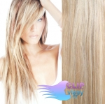 Clip in vlasy 41cm - platina/svetlohnedá #60/16