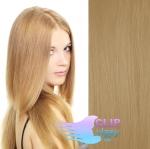 Clip in vlasy REMY - prírodná blond #22