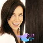 Clip in vlasy - tmavohnedá #2