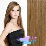 Clip in vlasy - svetlo hnedé #12