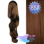 Clip in vlnitý cop 60cm - svetlejšia hnedá #6