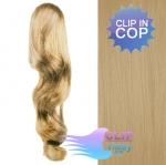 Clip in vlnitý cop 60cm - prírodná blond #22