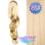 Clip in vlnitý cop 60cm - beach blond #613