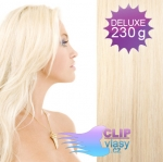 DELUXE Clip in vlasy REMY - platinově blond #60