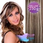 DELUXE Clip in vlasy REMY - melír blond a čokoládovo hnedá #4/22