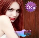 DELUXE Clip in vlasy REMY - medená #350