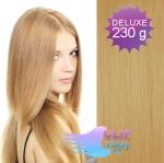 DELUXE Clip in vlasy REMY - prírodná blond #22