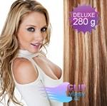 DELUXE Clip in vlasy REMY - svetlý melír #12/613