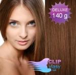 DELUXE Clip in vlasy 41cm REMY - svetlejšia hnedá #6
