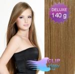 DELUXE Clip in vlasy 41cm REMY - svetlo hnedá #12