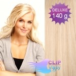 DELUXE Clip in vlasy 41cm REMY - beach blond #613