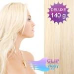 DELUXE Clip in vlasy 41cm REMY - platina #60