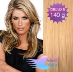 DELUXE Clip in vlasy 41cm REMY - prírodná/svetlejšia blond #18/22