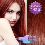 DELUXE Clip in vlasy 41cm REMY - medená #350