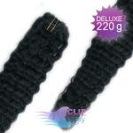 Kudrnaté DELUXE Clip in vlasy REMY - čierna #1