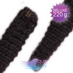 Kudrnaté DELUXE Clip in vlasy REMY - prírodná čierna #1b