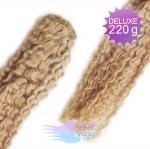Kudrnaté DELUXE Clip in vlasy REMY - prírodná blond #22