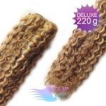 Kudrnaté DELUXE Clip in vlasy REMY - svetlý melír #12/613
