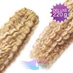 Kudrnaté DELUXE Clip in vlasy REMY - prírodná/svetlejšia blond #18/22