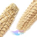 Kudrnaté clip in vlasy - platinovo blond #60