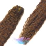 Kudrnaté clip in vlasy - svetlejšia hnedá #6