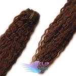 Kudrnaté clip in vlasy - čokoládovohnedá #4