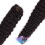 Kudrnaté clip in vlasy - prírodná čierna #1b