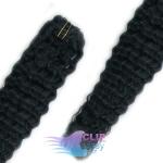 Kudrnaté clip in vlasy - uhľovočierna #1