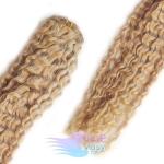 Kudrnaté clip in vlasy - prírodná blond #22