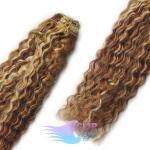 Kudrnaté clip in vlasy - tmavý melír #4/27