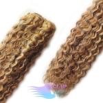 Kudrnaté clip in vlasy - svetlý melír #12/613