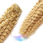 Kudrnaté clip in vlasy - prírodná/svetlejšia blond #18/22